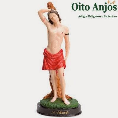 Estátua de São Sebastião* Oito Anjos Artigos Religiosos e Loja Esotérica
