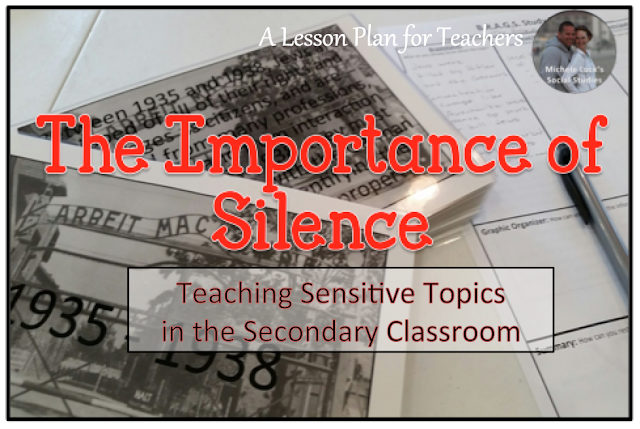 Tips for teaching sensitive topics, such as the Holocaust, in the secondary Social Studies classroom.