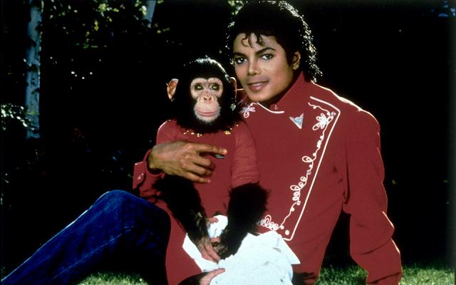 Michael Jackson şi cimpanzeului său, Bubbles.
