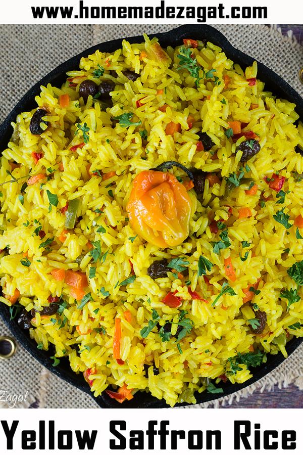 Caribbean Saffron Rice