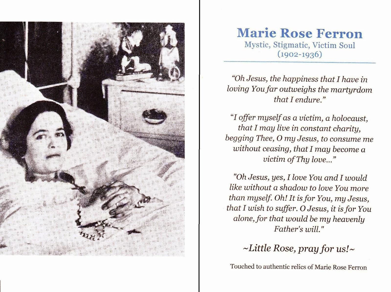 Image result for Marie Rose Ferron –American Mystic