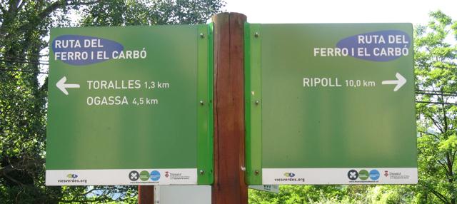 Rura del Ferro, a Ripoll, a peu de l'àrea d'autocaravanes