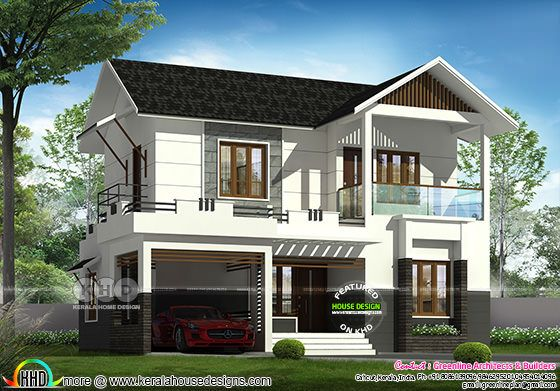 Double storied 3 bedroom home plan