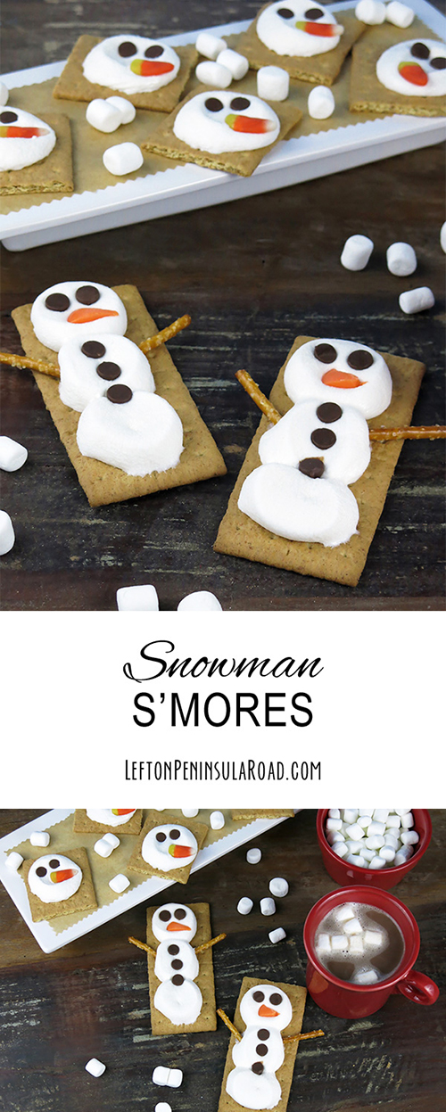 Make these adorable Marshmallow Snowman S'mores for your next winter event.