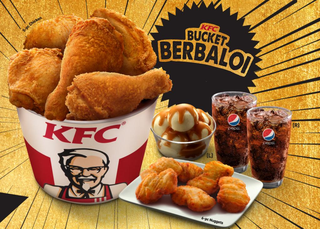 Harga KFC Bucket Berbaloi - Senarai Harga Makanan di Malaysia