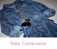 robe denim de cache cache