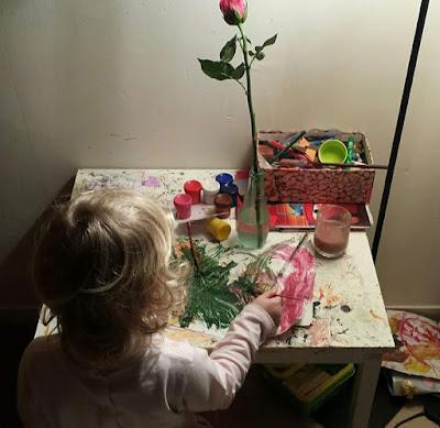 enfant peint