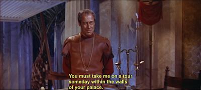 Julius Caesar (Rex Harrison) in the 1963 movie Cleopatra