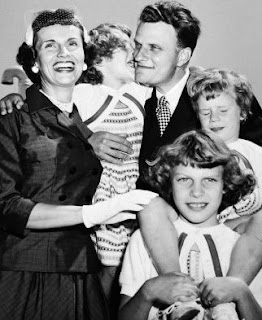 Billy Graham along with his family