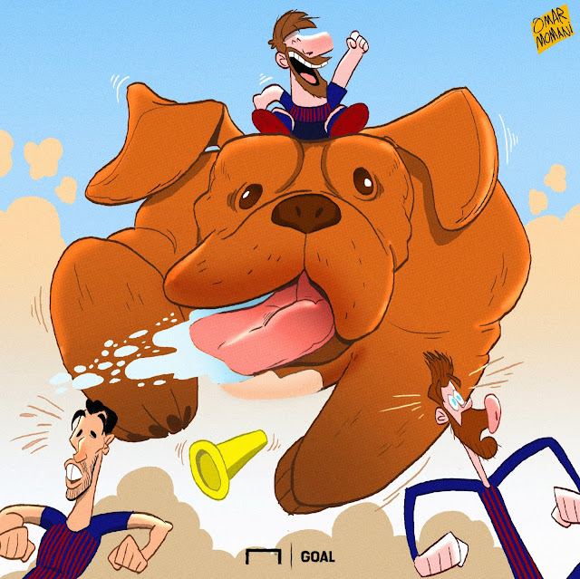 Dogue de Bordeaux dog cartoon illustration