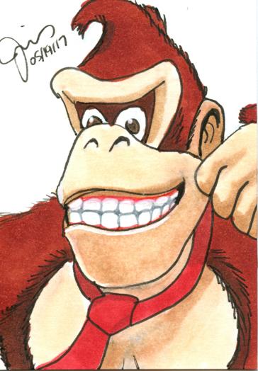 Donkey Kong Sketch Card