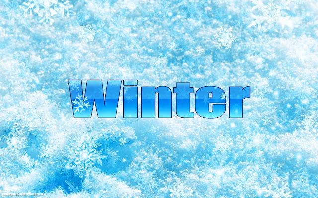 Sneeuw, sneeuwvlokken en de tekst winter