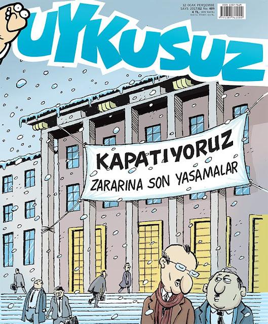 Uykusuz Dergisi | 12 Ocak 2017 Kapak Karikatürü