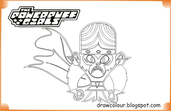 Powerpuff Girls Mojo Jojo Coloring Pages Art Paper