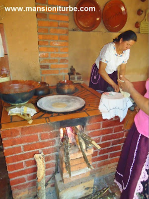 Traditional Kitchen in Santa Fe de la Laguna at Lake Patzcuaro Region