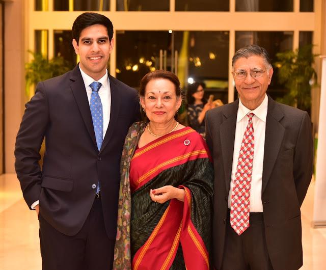 Narinder Khanna, Neeta Khanna and Abhishek Khanna