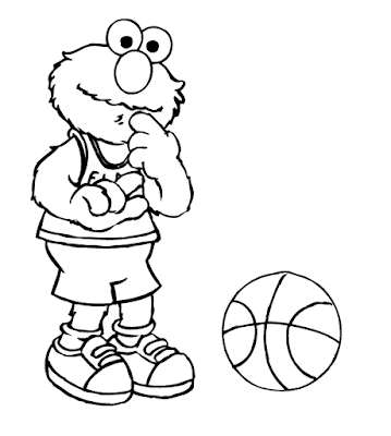 Gambar Mewarnai Elmo - 4