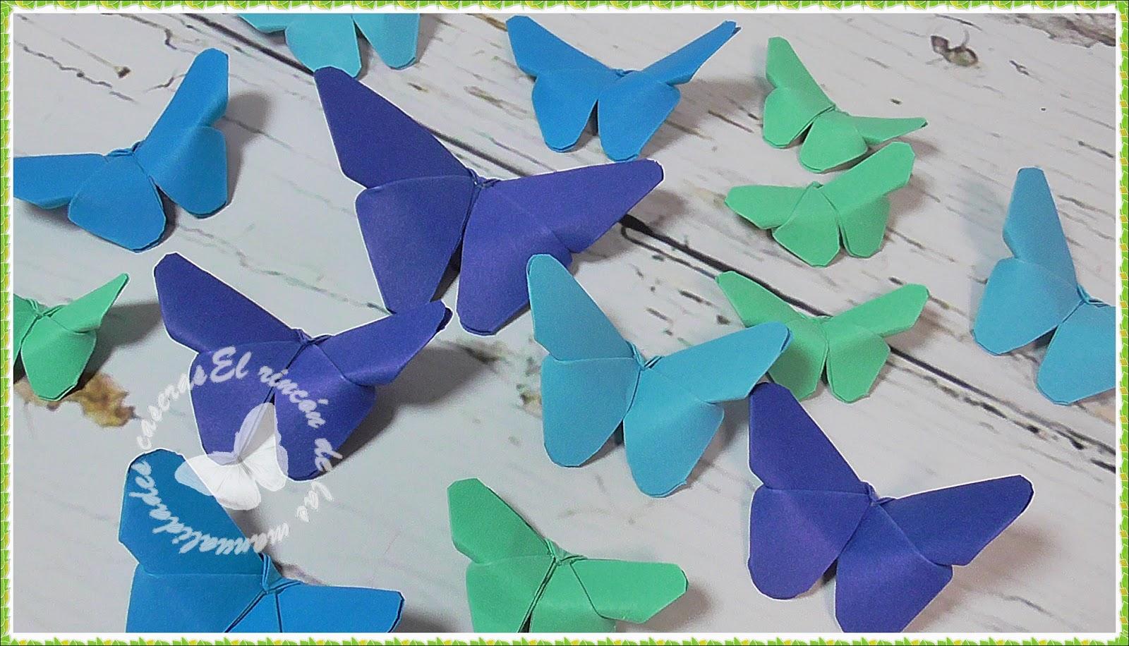 El Rincon De Las Manualidades Caseras Mariposas De Papel Origami