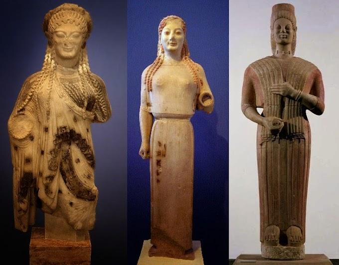 Τα σπουδαιότερα αρχαϊκά αγάλματα με Κόρες  εν Αθήναις
