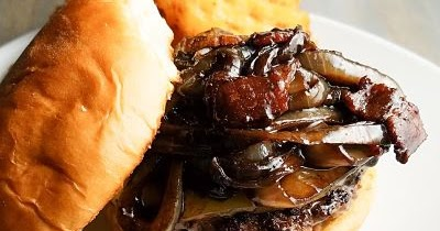 See Aimee Cook: Bacon Burgers with Bacon Onion Balsamic Jam