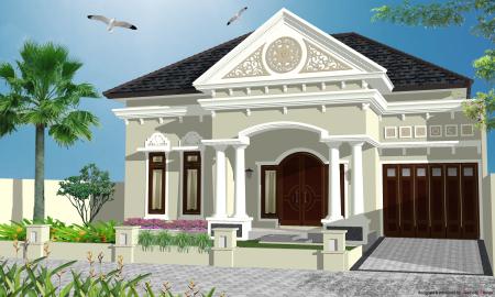 rumah modern klasik   model rumah modern