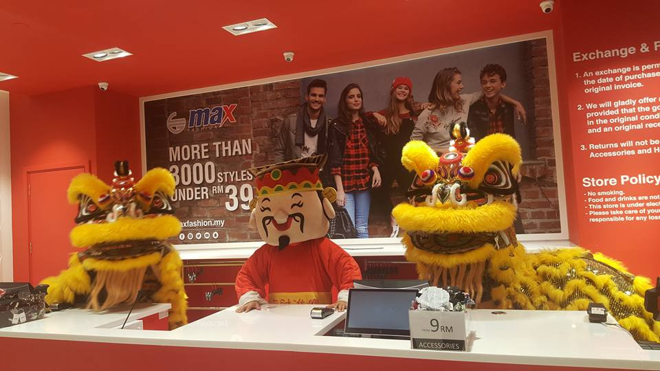 lion dance performance during the opening of the Max Fashion b4666b122db