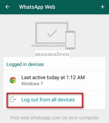 logout whatsapp web