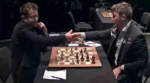 Nulle surprise dans la partie entre Levon Aronian (2805) et Sergey Karjakin (2760) dans la ronde 3 du London Chess Classic