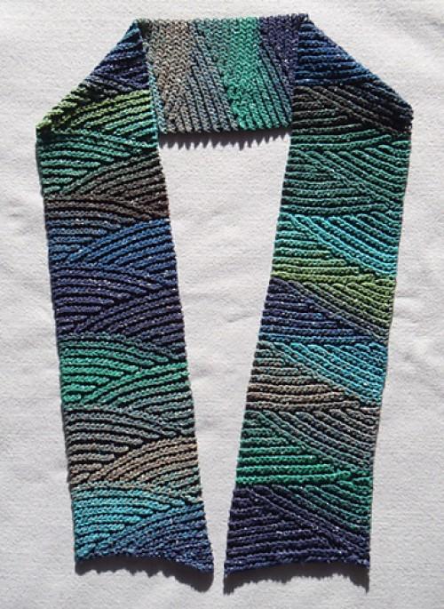 Slip Slope Scarf - Free Pattern