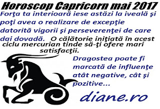 Horoscop mai 2017 Capricorn