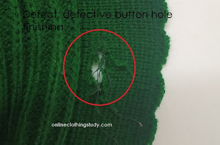 defective button hole