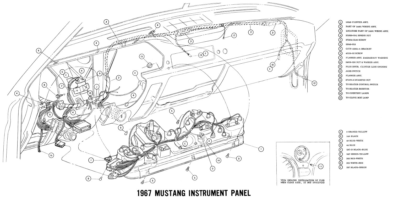 Free Auto Wiring Diagram: 1967 Ford Mustang Instrument Panel