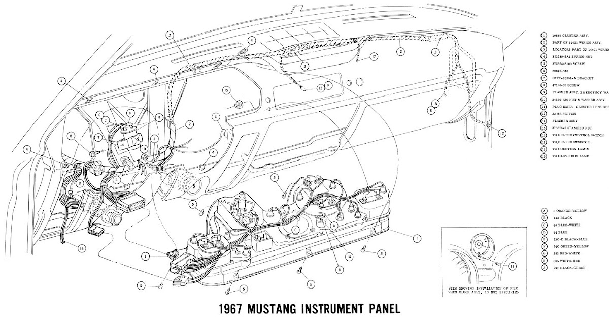 1965 Mustang Fuse Panel. Parts. Wiring Diagram Images