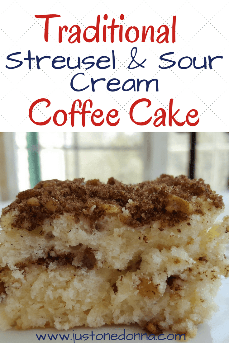 traditional coffee cake made with sour cream and streusel, perfect ...