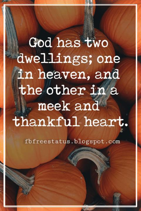 Thanksgiving Quotes, Quotes of Gratitude and Thanksgiving