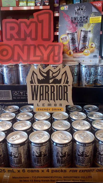 7 Eleven Malaysia  Warrior Sparkling Energy RM1 Discount Promo