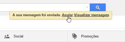 Dicas Gmail - anular email enviado
