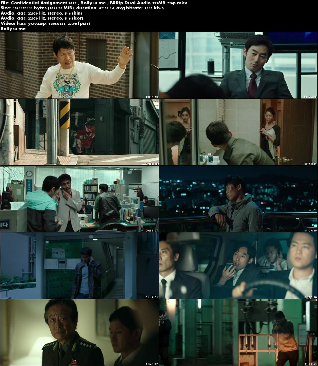 Confidential Assignment 2017 BRRip 999MB Hindi Dual Audio 720p Download