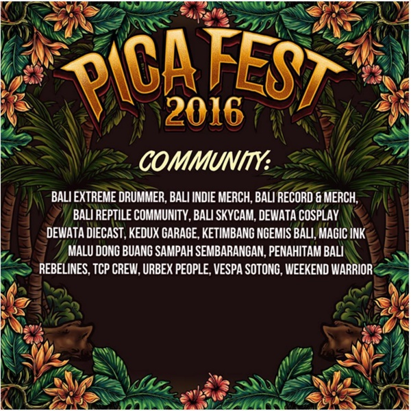 Ajang PICA Fest 2016 Pesta Bagi Pengusaha Distro di Bali