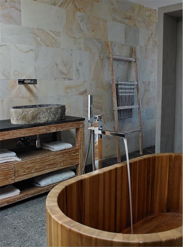 bañera exenta de madera chicanddeco