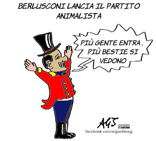Berlusconi, brambilla, partito animalista, vignetta, satira