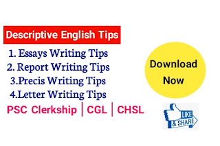 Descriptive English Guide Tips - Essays Writing, Report Writing, Precis Writing Tips & Sample PDF