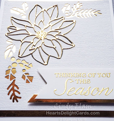 Heart's Delight Cards, Peaceful Poinsettia, Winter Woods, Christmas Card, Stampin' Up!