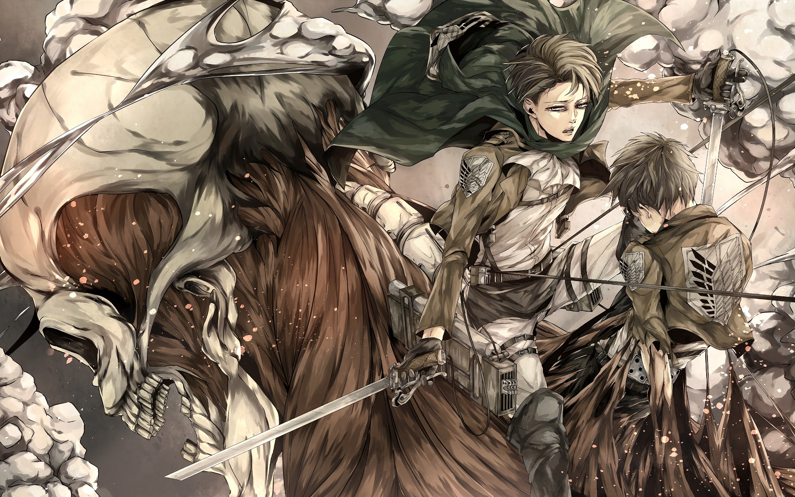 Levi And Eren Attack On Titan 4k Wallpaper 125