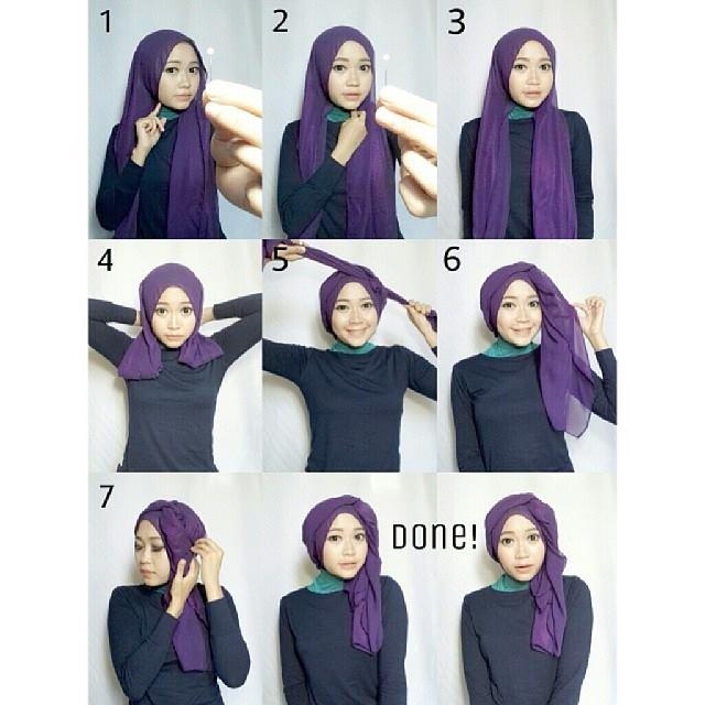 Model dan Cara Menggunakan Hijab Pashmina Simpel Praktis 5