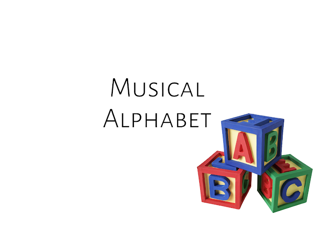The musical alphabet and treble clef