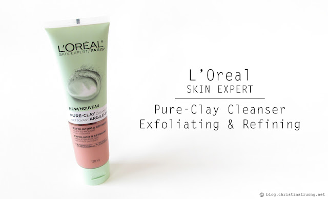 L'Oreal Pure-Clay Cleanser - Exfoliating & Refining Clay-To-Mousse Daily Cleanser 3 Mineral Clays + Red Algae