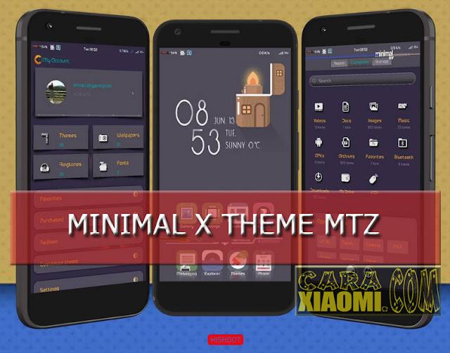 Tema MIUI Minimal X Theme Mtz For Xiaomi