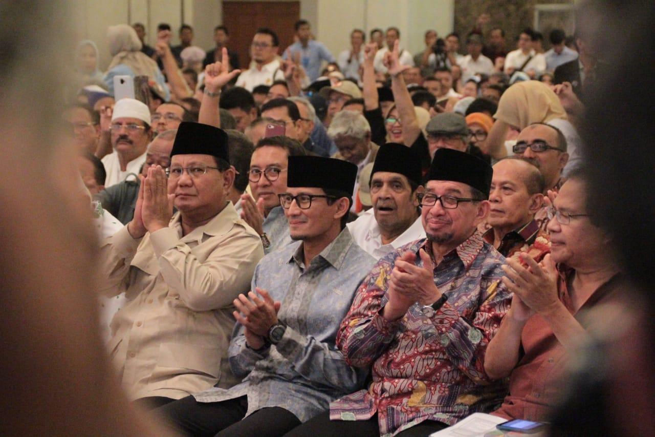 Kode Keras Prabowo-Sandi Bikin Ciut Nyali Pelaku Kecurangan