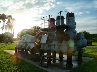 Viejas bombas de agua en el parque